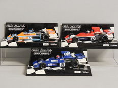 Minichamps - Scale 1/43 - Lot with 3 x Tyrrell Ford 007