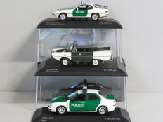 Minichamps - Scale 1/43 - Lot witht 3 Police models: Alfa Romeo, Amphicar & Porsche