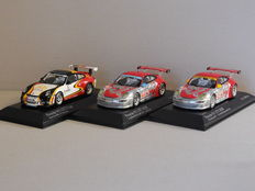 Minichamps - Scale 1/43 - Lot with 3 x Porsche 911 GT3