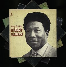 """""""They call me Muddy Waters""""!! Lot of four blues albums by Muddy Waters and B.B. King (2 + 2)"""