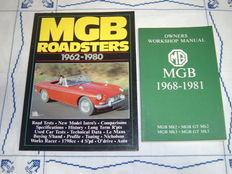 2x books MGB Roadsters 1962-1980 and MGB Owners Workshop Manual 1968-1981