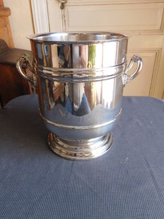 Christofle silver-plated champagne bucket, Sully model, 20th century, Gallia collection