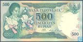Indonesia 500 Rupiah 1977 (Replacement)