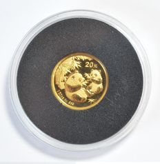 "China – 20 Yuan 2006 ""Panda"" – 1/20 oz gold"