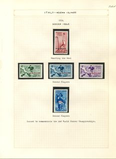 Italian colonies - 1921 to 1941 - an advanced collection on album sheets in a clamp binder