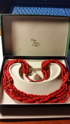 Superb red coral necklace – 1965 to 1970