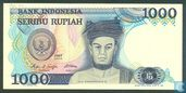 Indonesia 1,000 Rupiah 1987 (Replacement)
