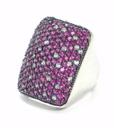 Ring sterling silver zirconia very beautiful by Eugenio Campos