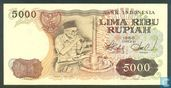 Indonesië 5.000 Rupiah 1980 (Replacement)