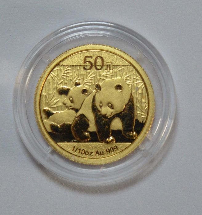 China - 50 Yuan 2010 'Panda' 1/10 oz goud