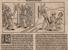 Spanish incunable with the martyrdom of Apostle Philippe - 15th century