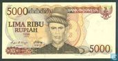 Indonesië 5.000 Rupiah 1986 (Replacement)