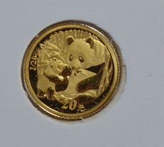 "China – 20 Yuan 2005 ""Panda"" 1/20 oz – gold"