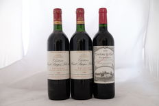 2x 1988, Chateau Haut - Bages Liberal, Grand Cru Classe, Pauillac, France. 1x 1998, Chateau Le Gay, Pomerol, France, Totaal 3 flessen.