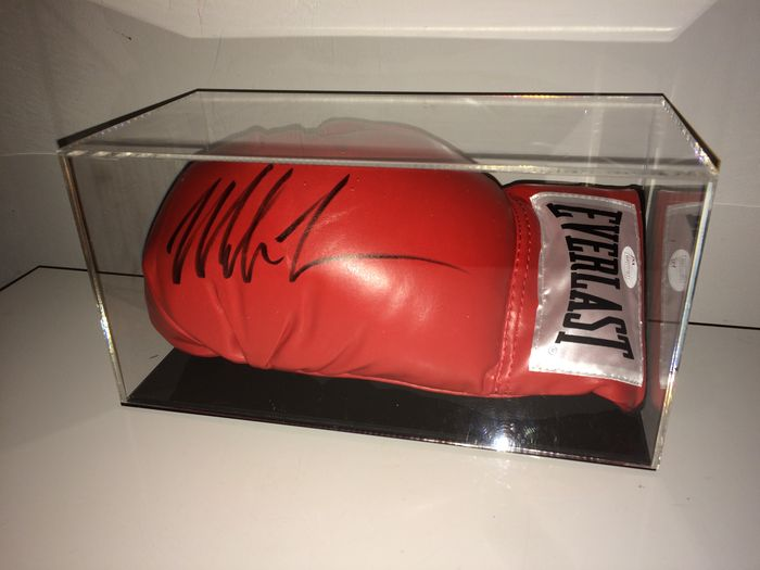 Mike Tyson - original, signed by Tyson Everlast Boxing Glove in a beautiful Display Case with COA JSA.