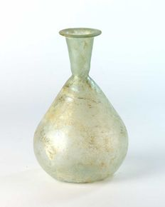 A Roman Glass Sprinkler Vessel - 14 cm