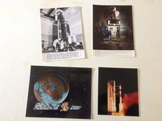 Set of 16 press photos various communications and weather satellites