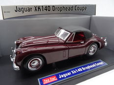 Sun Star - Scale 1/18 - Jaguar XK140 Drophead Coupe - Colour Bordeaux