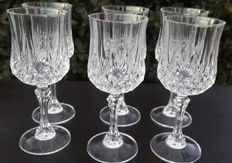 12 patterned Crystal glasses, France- second half of the 20th century.