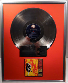 "Guns N Roses - Use Your Illusion 1  - 12"" German Geffen Record platinum plated record by WWA Awards"