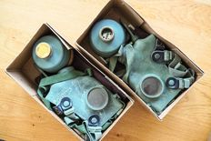 Dutch Vredestein people's gas mask WW2 1940 complete - 2 PCs.