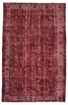 recoloured vintage rugs and patchwork rugs