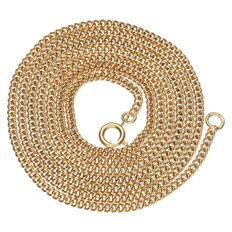 Yellow gold, curb link necklace.