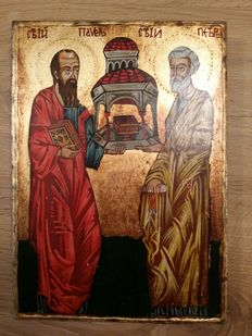 Icon - Peter and Paul - presumably Bulgaria