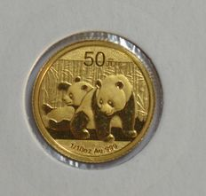 "China – 50 Yuan 2010 ""Panda"" 1/10 oz, gold"