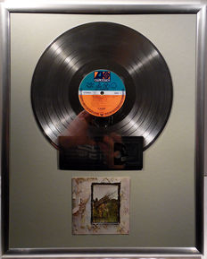 "Led Zeppelin - Led Zeppelin four 4 - 12"" German Atlantic Record platinum plated record by WWA Awards"