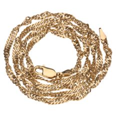 Yellow gold, twisted curb link necklace