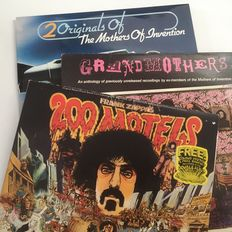 Frank Zappa / The Mothers Of Invention lot of 4 LPs: Grandmothers, 200 Motels, Roxy & Elsewhere and Burnt Weeny Sandwich / Weasels Ripped My Flesh