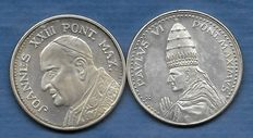 Commemorative medals - Pope John XXIII + Paul VI
