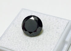 Fancy Black Diamond in Brilliant Cut of 3.485 ct - without reserve price