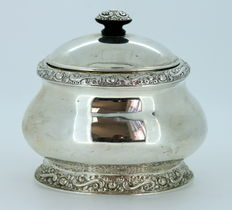 Solid Silver Tea Caddy, Germany, 1940's
