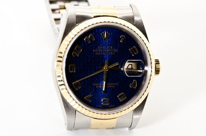 rolex oyster perpetual herrenuhr blaues zifferblatt. Black Bedroom Furniture Sets. Home Design Ideas