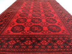 "Semi-antique Afghan – 273 x 198 cm – ""Authentic Persian carpet – 100% Wool – In beautiful, barely walked upon condition"""