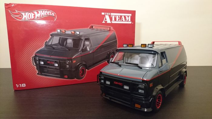 hotwheels scale 1 18 gmc vandura cargo van the a team. Black Bedroom Furniture Sets. Home Design Ideas