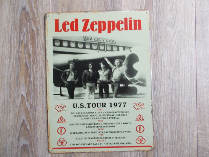 Led Zeppelin Concert  U.S Tour 1977