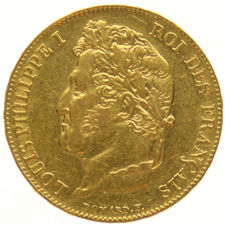 France – 20 francs 1848A – Louis Philippe I, gold.