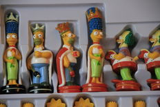 3D chess set The Simpsons