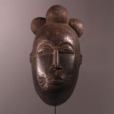 Beautiful Baule Mask with Signs of Wear - Ivory Coast
