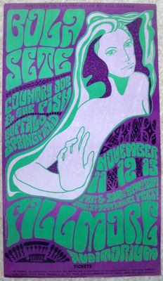 Country Joe & the Fish / Buffalo Springfield  Fillmore Poster San Francisco 1966