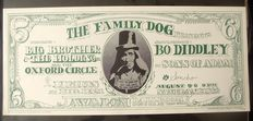 Janis Joplin Family Dog Avalon Poster San Francisco 1966 Dollar Bill