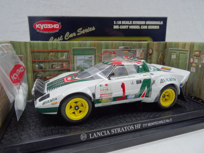 kyosho - scale 1/18 - lancia stratos hf rally 1977 ralle monte carlo
