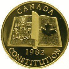 Canada - 100 Dollars 1982 'New Constitution' in orginele etui - ½ oz Goud