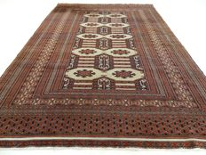 """Bouchara - 148 x 125 cm - """"Finely knotted carpet a beautiful practically not walked on condition"""". - Please mind! No reserve price: starts at €1.-"""