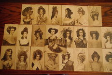 Exhibition of hairdressing-Anvers 1909-the complete collection (23 X Phototypes G. Hermans)