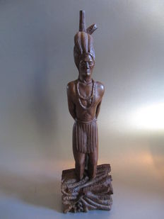 Carved sculpture - indian Hatuey - Latin America - Cuba - 1896
