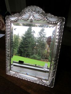 Silver mirror, large size, Fa. Carrs, Sheffield (GBR) 1994